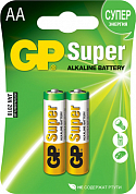 Батарейка AA GP Super, 1.5V (2 шт)