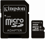 Карта памяти microSDHC KINGSTON Canvas Select 16Gb, Class10 UHS-I (SDCS/16GB)