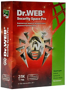 Dr.Web Security Space Pro, 2 Device на 1 год, Base/продление лицензии, BOX